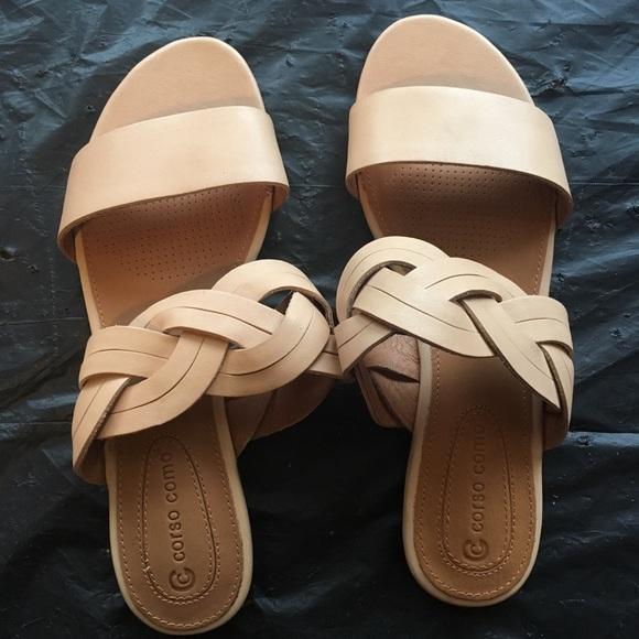 3eac00723f0 Corso Como Shoes - NWOT Corso Como Sicily Nude Brushed Leather Sandal